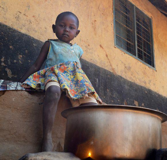 Eli i Sydsudan är ett av många barn som drabbats av svältkatastrofen.