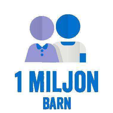 Med säkra skolor kommer vi i slutet av 2017 ha nått ut till 1 miljon barn.