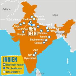 Bara koppla in Indien