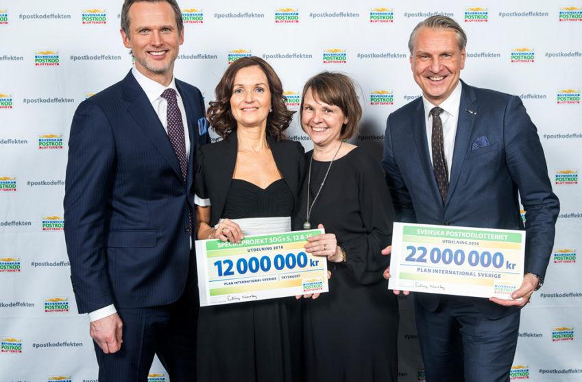 Plan International och Fryshuset tar emot stöd från Postkodlotteriet 2018.