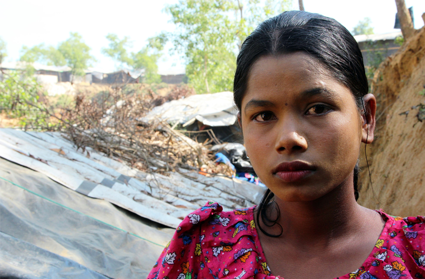 Sabuka är en av många flickor i flyktingläger i Bangaldesh.