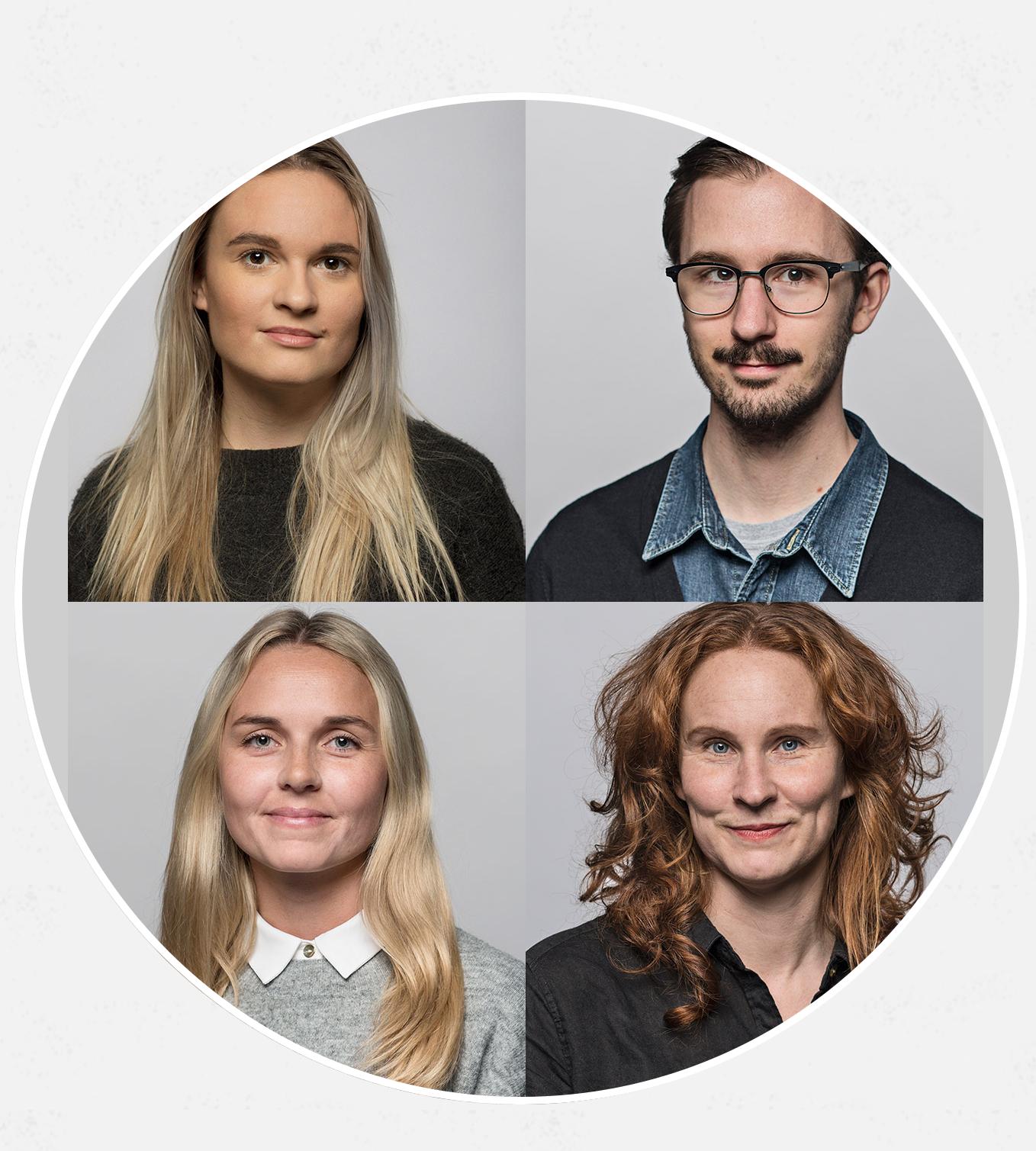 Alexandra Elgue, John Nellfors, Isabella Mattsson och Sophia Kågström