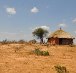 Vy över torrt landskap i Etiopien.