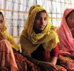 Rohingya-flickor i Bangladesh