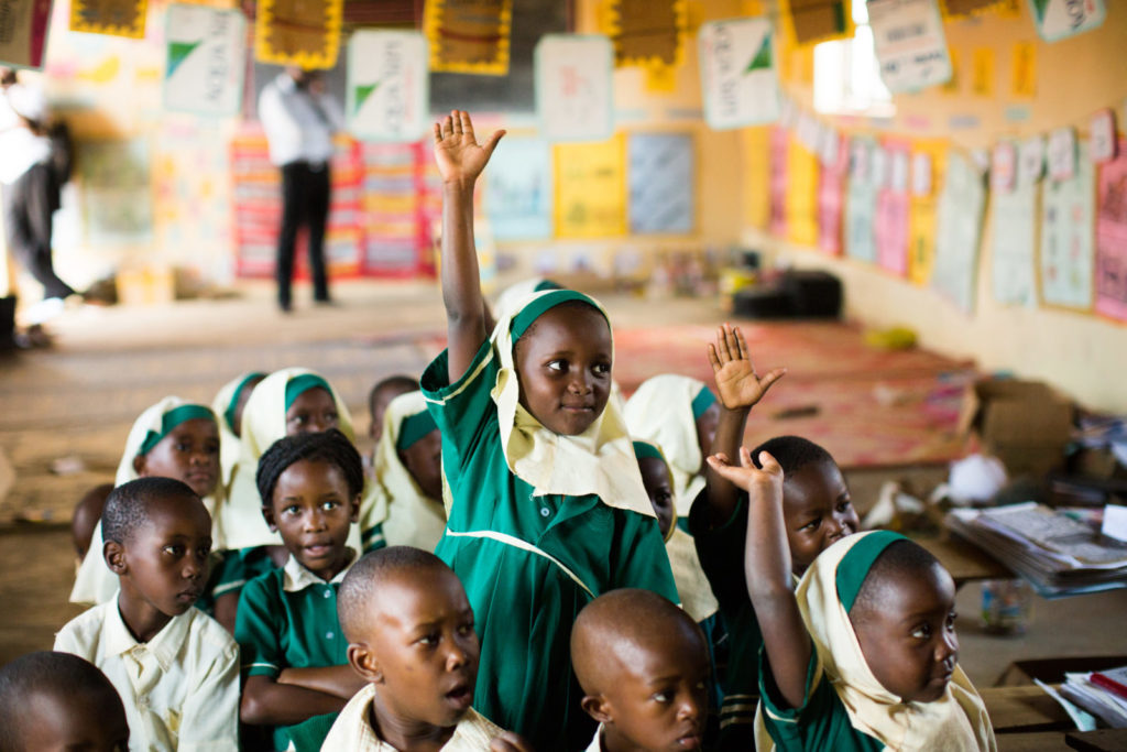 Skolbarn i Uganda