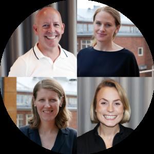 Olof, Anna, Veronica och Ingrid på företagsavdelningen