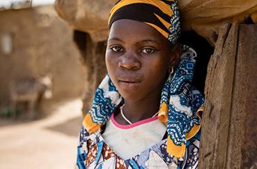 Rokia, 14 år, i Sahelområdet