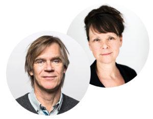 Styrelseordförande Carl Lindgren och Generalsekreterare Mariann Eriksson
