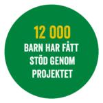 Text: 12 000 barn har fått stöd genom projektet