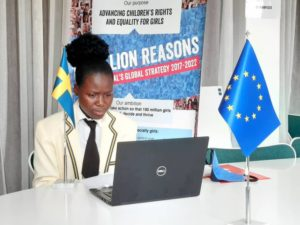 Catherine gör takeover på svenska ambassaden i Zimbabwe